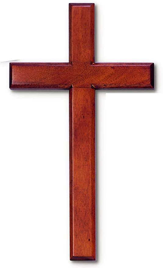 "Amazon.com: Wall Cross Made in Solid Mahogany Wood 7"" X 14"" in White Gift  Box: Home & Kitchen"