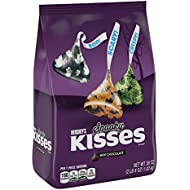 HERSHEY'S KISSES Halloween Spooky Milk Chocolates, Perfect for Halloween Decorations, 36 Ounce Bulk Candy