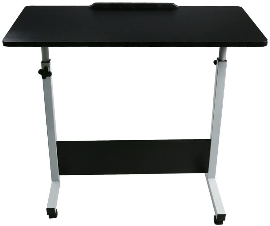 31.5 X 15.7 Computer Desk Cart Height-Adjustable from 21.7-28.7 Notebook Desk for Home Study Writing Office black, 31.515.721.7-28.7 inch Folding Laptop Table Rotated 180 Degrees