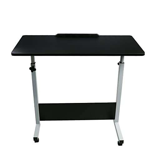 Winsopee Folding Computer Desk 80cm50cm Computer Desk Cart,Desktop Lifting Rotated 180 Degree