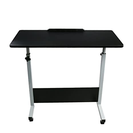 TANGON Laptop Rolling Cart Computer Stand Desk 31.4u0026quot; X 15.74u0026quot;  Large Wooden Table Top