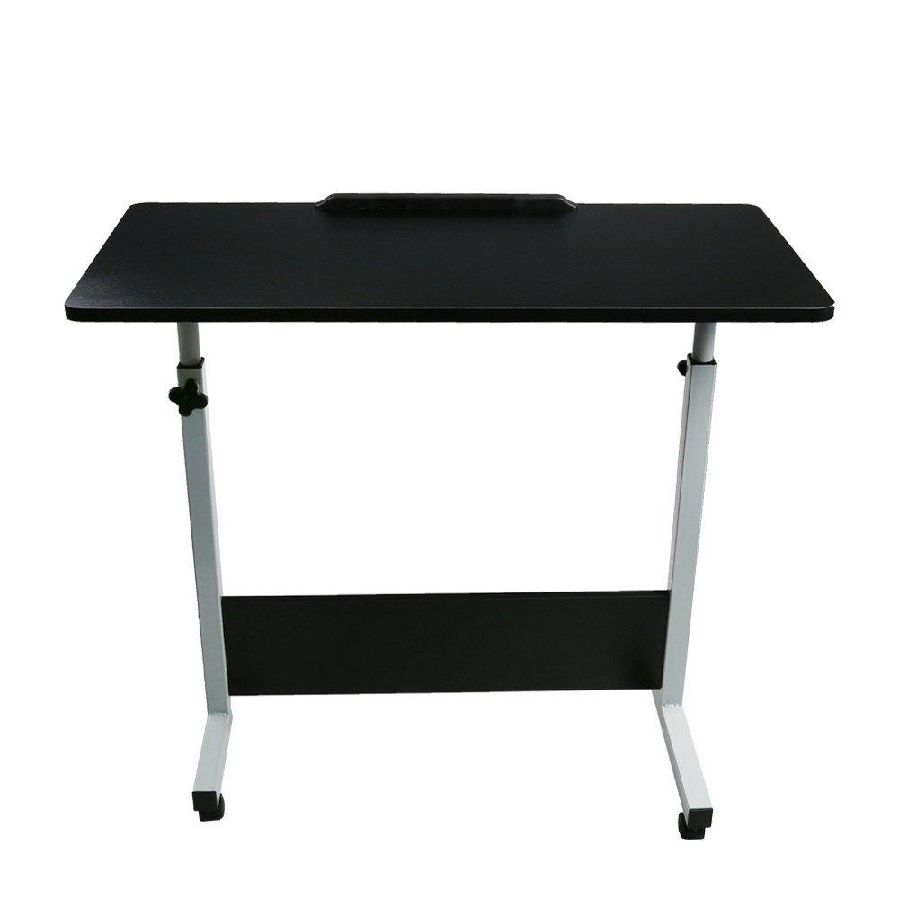 Winsopee Folding Computer Desk 80cm50cm Computer Desk Cart,Desktop Lifting Rotated 180 Degrees