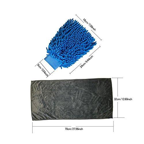 85%OFF HUABEI Gant de Chenille Etanche pour Lavage de Voiture et Chiffon Microfibre