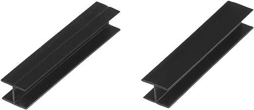 HOLZBRINK Conector para el Montaje del Z/ócalo para Cocina de M/ódulos Altura 100 mm negro alto brillo HBK10