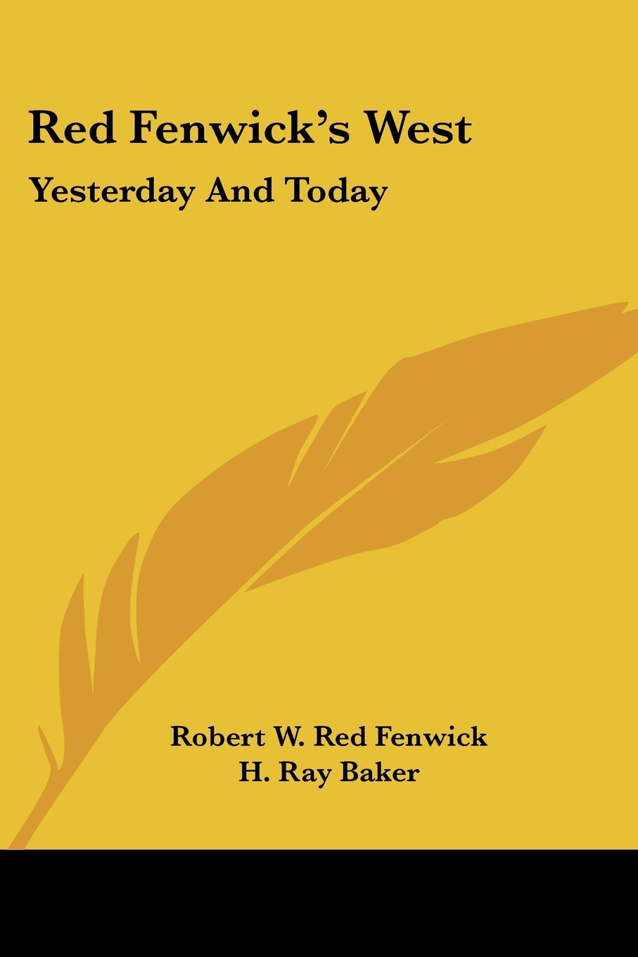 Red Fenwick's West: Yesterday and Today pdf