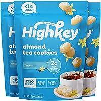 HighKey Keto Cookies & Low Carb Snacks - No Sugar Added Almond Cookie - Grain & Gluten Free Snack - Diabetic Dessert...