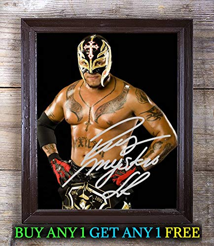 (Rey Mysterio WWE Smackdown Autographed Signed 8x10 Photo Reprint #36 Special Unique Gifts Ideas Him Her Best Friends Birthday Christmas Xmas Valentines Anniversary Fathers Mothers)