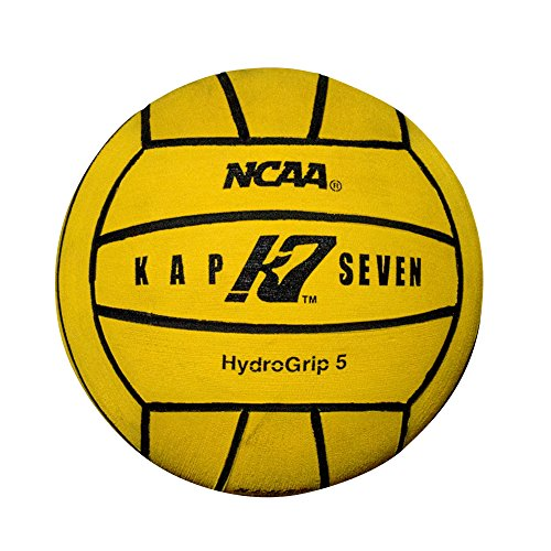 KAP7 Size 5 HydroGrip Water Polo Ball (NCAA and NFHS Official), Yellow