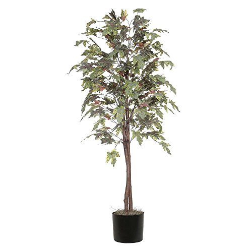 Vickerman TEC1760-07 Frosted Maple Tree, Green/Brown, 6' ()