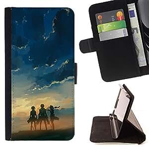 Momo Phone Case / Flip Funda de Cuero Case Cover - Tres Heros;;;;;;;; - HTC One A9