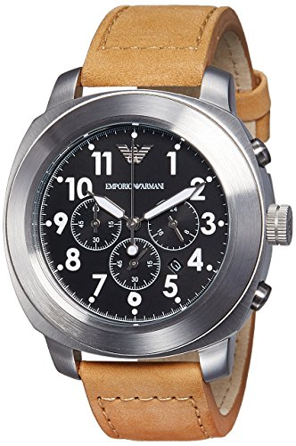 Emporio Armani Men's AR6060 Sport Tan Leather Watch