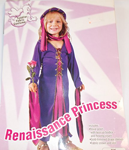 [Renaissance Princess Costume Child Size Toddler up to 2T] (Toddler Renaissance Costumes)
