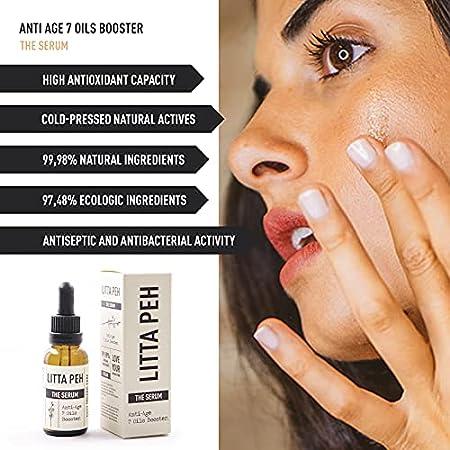BIO SERUM Facial Antiarrugas - THE SERUM - Tratamiento Orgánico Antiage - 7 Aceites Secos Ecológicos con Propiedades Antioxidantes, Calmantes y Regeneradoras - 30ml
