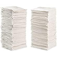 """Cleaning Solutions 79100 White Shop Towels Natural (14"""" x 12"""") -50 Pack, Pack"""
