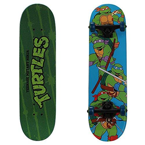 PlayWheels Teenage Mutant Ninja Turtles 28″  Skateboard, Turtle Time
