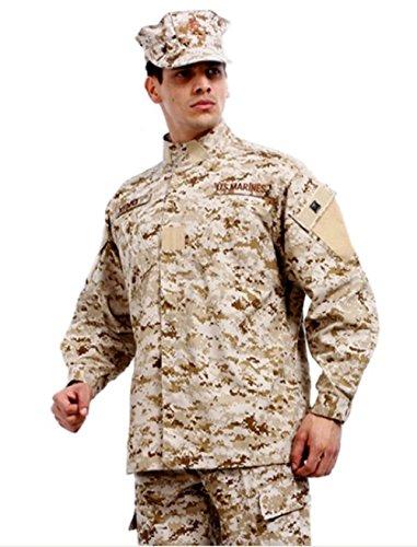 Acu Uniform Set - Noga Camouflage Suit Combat Bdu Uniform Military Uniform Bdu Hunting Suit Wargame Paintball Coat+pants (DESERT CAMO, L)