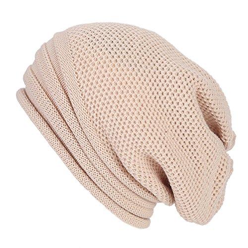 TWGONE Womens Caps Baggy Warm Crochet Winter Wool Knit Ski Beanie Skull Slouchy Caps Hat(One ()