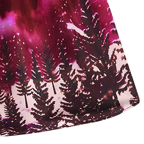 Trapèze Robe Vêtements Tenue Noël Rouge Sans Festive Rockabilly Manches Battercake Longueur Casual Dame De Genou Fête Soirée 2DHW9EI