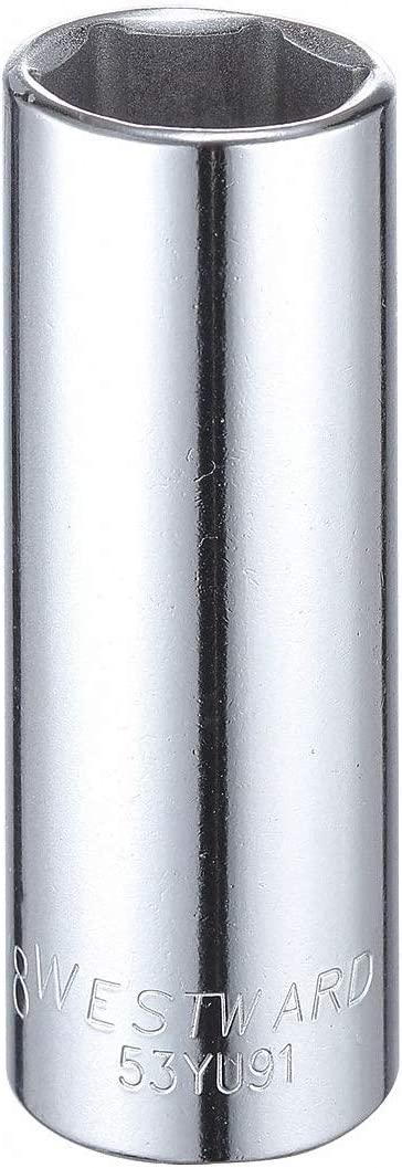 7//8 Alloy Steel Socket with 1//2 Drive Size and Full Polished Finish Pack of 5 WESTWARD