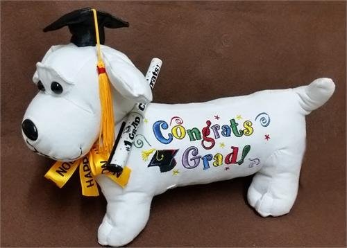 Graduation Autograph Stuffed Dog