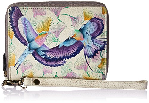 (Anuschka Hand Painted Leather Zip Around Organizer RFID Clutch Wallet | Wings of Hope)