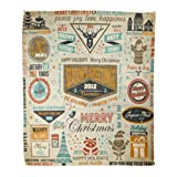 Best Plaid Home Collection Bird Houses - Emvency Flannel Throw Blanket Vintage Collection of Christmas Review