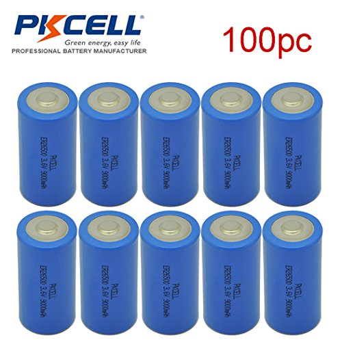 ER26500 Li-SOCl2 Battery C Cell Lithium 9000mAh Battery 100pcs by PKCELL (Image #2)