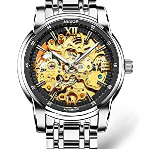 AESOP Hollow Men Watch Men Automatic Mechanical Wrist Wristwatch Top Brand Waterproof Male Clock Relogio Masculino Hodinky