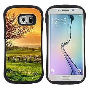 "Hypernova Slim Fit Dual Barniz Protector Caso Case Funda Para Samsung Galaxy S6 EDGE [Naturaleza Hermosa Forrest Verde 3""]"