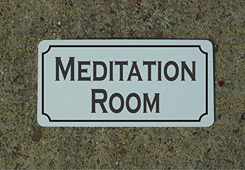 Meditation Room Vintage Style Metal Sign Decor