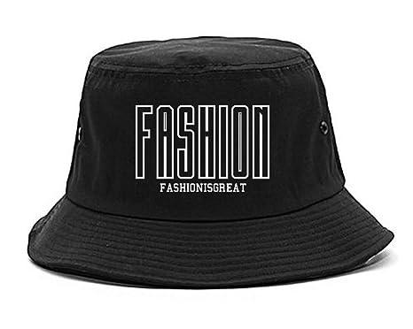 Amazon.com  FASHIONISGREAT Tall Font Logo Womens Bucket Hat Black ... 88f63682f79