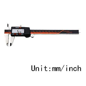 Calibrador Vernier Calibre Digital 0 6 Pulgadas Medidor De Micrometro Digital Electronico Qintaiourty Amazon Es Industria Empresas Y Ciencia