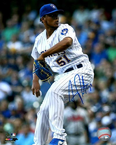 Brewers Pitcher Freddy Peralta Autographed Signed 16x20 Photo #2 Auto - MLB Debut 13 Ks - Certified Signature