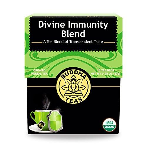 Organic Divine Immunity Blend Tea - Kosher, Caffeine Free, GMO-Free - 18 Bleach Free Tea Bags