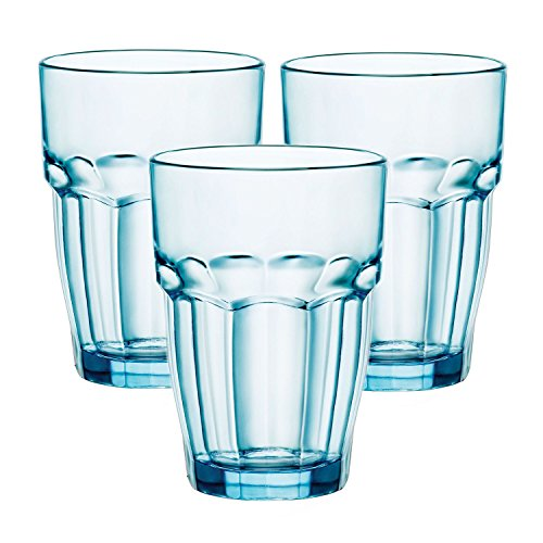 Glass Bormioli Glass Rocco Highball - Bormioli Rocco Rock Bar Lounge Ice 12.5 Ounce Long Drink Glass, Set of 12