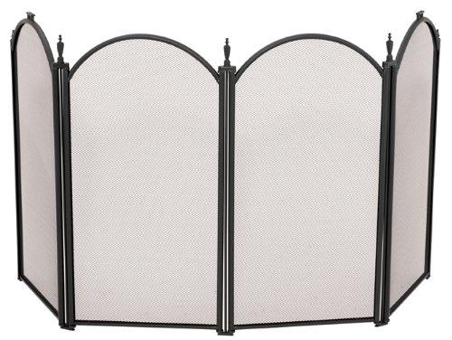 4 Fold 25in. H Mini Black Screen , UniFlame , Fireplace Screens, Fireplaces