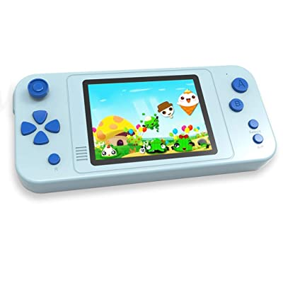 "Beico Handheld Games for Kids with Built in 218 Classic Retro Video Game 3.5"" Big Screen Portable Rechargeable Arcade Gaming Player Boys Girls Birthday Gift (Alice Blue): Toys & Games"
