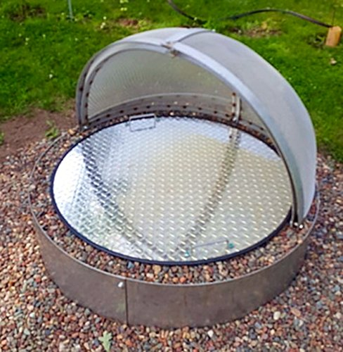 36' Round Aluminum Gas-Wood Fire Pit Cover Campfire Ring Top Lid