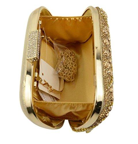 Nuevo Diamante Rosa Diamantes Borlas Paquete De Banquetes Europa Y Los Estados Unidos La Moda Bolso De Noche La Novia La Mano Llevar Bolsos Vestido Gold