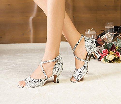 Miyoopark ,  Damen Tanzschuhe , weiß - White-7cm heel - Größe: 35