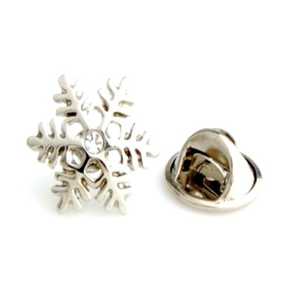 Procuffs Snowflake Christmas Santa Winter Lapel Pin Tack Tie L16