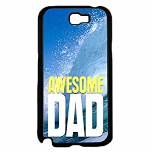 Awesome Dad TPU RUBBER SILICONE Phone Case Back Cover Samsung Galaxy Note II 2 N7100