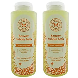The Honest Company Perfectly Gentle Sweet Orange Vanilla Bubble Bath 12 Oz (Pack of 2)