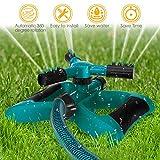 Garden Sprinkler, 360° Rotating Adjustable Lawn Sprinkler Irrigation System with Leak Free Design
