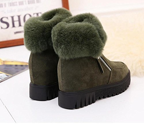 Ms really increased heavy bottom rabbit anti-skid snow boots ARMYGREEN-90160CM jxoeiay
