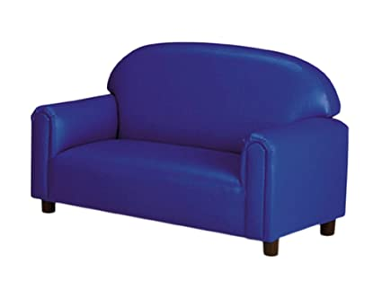 Brand New World Preschool Premium Vinyl Upholstery Sofa   Blue
