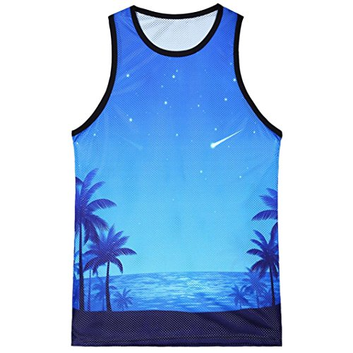 Stripe Henley Tank - Alonea Independence Day Tank Top, Men's Casual Printed The Old Glory Independen Sleeveless Tank Top Blouse (XL, Blue F❤️)