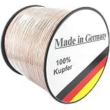 Lautsprecherkabel transparent 2,5mm² - 50m - Qualitätsware Made in Germany - Reines Kupfer
