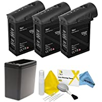 DJI Inspire 1 Black Edition Battery Bundle. Includes 3x TB47 Batteries (Black) + Battery Heater (Black) + eDigitalUSA Cleaning Kit
