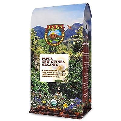 Organic Coffee Beans - Dark Roast Papua New Guinea, Whole Bean Coffee, Arabica Gourmet Coffee Beans by Java Planet Organic Coffee Roasters
